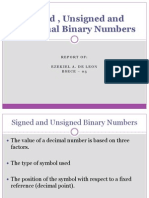 Signed , Unsigned and Fractional Binary Numbers