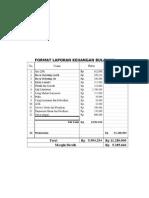 Format Laporan Keuangan Bulanan