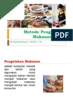 Metode Pengolahan Makanan Asing