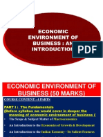 Economic Environment of Business (an Introduction)