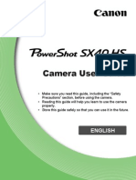 Canon SX40 HS Powershot User Guide