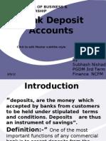 Bank Deposit Accounts Final