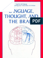 LANGUAGE, THOUGHT, AND THE BRAIN © Tatyana B. Glezerman and Victoria I. Balkoski