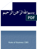 Rules of Business