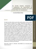 A articulação entre ensino, pesquisa e extensão na formação do professor de geiografia da universidade estadual de Goiás _ Unidade Universitária de Morrinhos