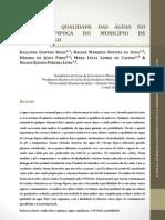 Análise da qualidade das águas do córrego Pipoca do município de Morrinho_GO