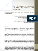 Avaliação quali_quantitatica de problemas ambientais o caso do ribeirão dos pereiras, em guapó (GO)