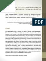 Diferenças na estrutura do micro_habitati influenciam na taxa de predação de frutos artificiais