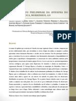 Levantamento preliminar da avifauna do córrego Pipoca, Morrinhos, GO