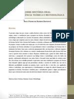 Sobre história oral uma experiÊncia teóruca e metodológica