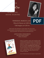 flyer - book signing