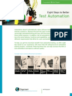 Eight Steps to Better Test Automation
