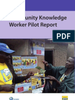 Community Knowledge Worker Pilot Report