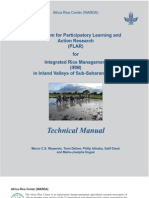 Curriculum for Participatory Learning and Action Research (PLAR) for Integrated Rice Management (IRM) in Inland Valleys of Sub-Saharan Africa -- PLAR Technical Manual