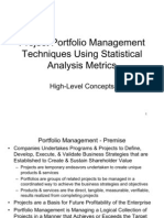 Project Portfolio Management Techniques Using Statistical Analysis Metrics