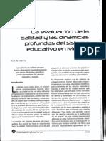 R Kent_Evaluacion de Calidad y Dinamicas Profundas Del Sistema Educativo