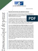 CP_UAF_Résultats d'activité 2011 des aéroports français
