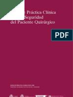 Guía de Práctica Clínica para la Seguridad del Paciente Quirúrgico
