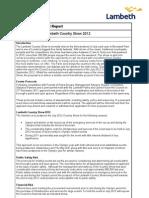 Lambeth Country Show 2012 Event Proforma Report v.4