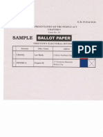 Sample Ballot - Freetown