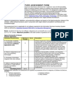 Software Architecture Assessment Form