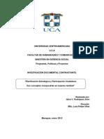 """""""Planificación Estratégica y Participación Ciudadana"""