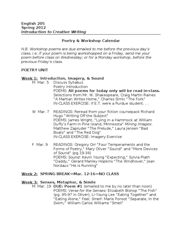Jjacobs English 205 Poetry Calendarspring 2012wnames