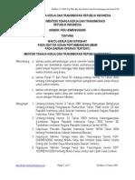 Per-15-Men-VII-2005 Tentang Waktu Kerja Dan Istirahat Pada Sektor Usaha an Umum Pada Daerah Operasi Tertentu