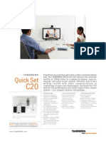 TANDBERG C20 QuickSet Product Sheet