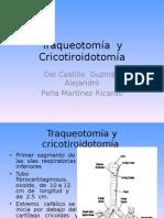 Traqueotomía y Cricotiroidotomía