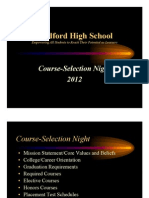 MHS Course Selection Presentation 2012