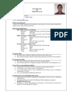 CV of Sheikh Md. Faysal