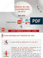 Fichier Intention de Vote Bva-le Parisien - Mars 2012a3c86