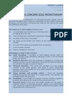 Sole Trading Concern Sole Prorietorship