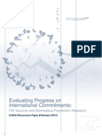 Evaluating Progress on International Commitments to HIV Vaccine and Biomedical Prevention Research
