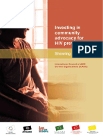 Investing in Community Advocacy for HIV Prevention