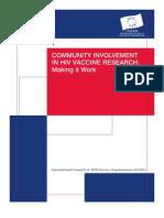 Community Involvement in HIV Vaccine Research
