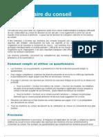 Questionnaire Pour Evaluer La Performance Du Conseil D'Administration