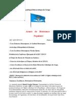 Message de solidarité et de soutien de l'ARP à l'Eglise catholique de la RDC( Lettre ouverte )