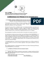 ASADHO condamne l'utilisation abusive des forces de l'ordre par le Ministre de l'Interieur 2012