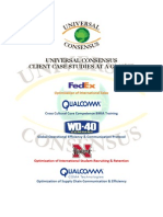 UC CASE STUDIES FedEx Qualcomm WD40 Univ Nebraska QCT Pentagon