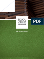 Private Dining Menu at Roka Akor Chicago