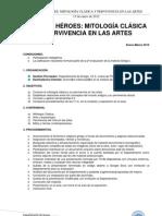 MITOLOGÍA CLÁSICA Y PERVIVENCIA EN LAS ARTES-2012