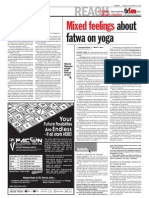 TheSun 2008-11-24 Page04 Mixed Feelings About Fatwa on Yoga