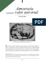 La Democracia Como Valor Universal