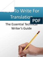 How to Write for Translation