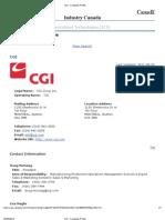 Industry Canada CGI Profile