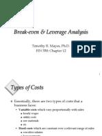 Break Even&LeverageAnalysis