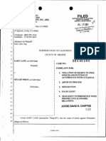 11-07-12 Gary Lane v Stuart Price (Brian Cave, LLP)  (30-2011 00490380) Superior Court of California, County of Orange, Complaint for Violations of Rights, Abuse of Process, Defamation