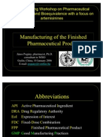 Manufacturing Finished Pharma Product